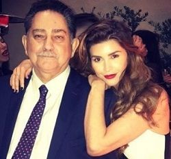 Shiva Safai with her father