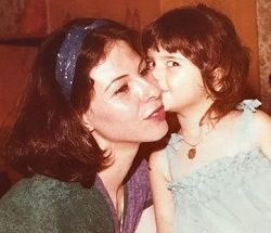 Shiva Safai with her mother