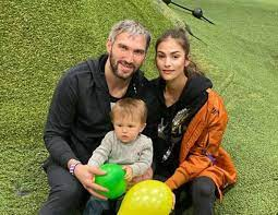 Anastasia Shubskaya with her husband & kids