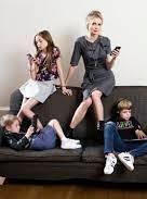Charlotte Edwardes with her children