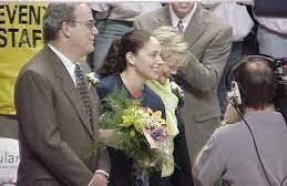 Sue Bird with her parents