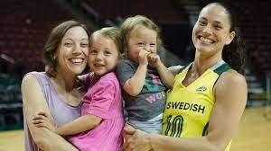 Sue Bird with her sister