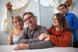 Josie Totah with her father, sister & brother