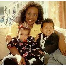 Gladys Knight with her children