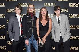Ric Ocasek with his ex-wife Paulina & sons
