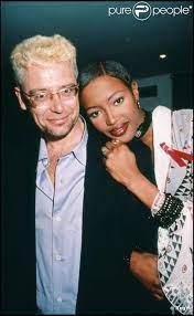 Naomi Campbell with her ex-husband Adam