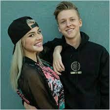Kristen Hancher with her ex-boyfriend Andrew