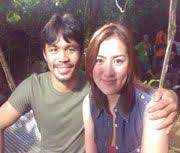Manny Pacquiao with his ex-girlfriend Ara