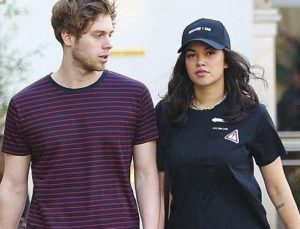 Luke Hemmings with his ex-girlfriend Arzaylea
