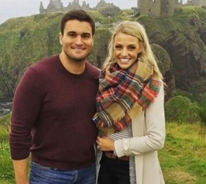 Carley Shimkus with her husband