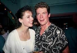 Geena Davis with her ex-boyfriend Christopher