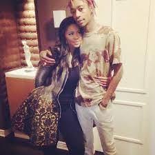 Wiz Khalifa with his ex-girlfriend Deelishis