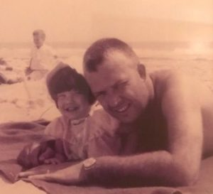 Denise McAllister with her father