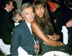 Naomi Campbell with her ex-husband Flavio