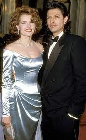 Geena Davis with her ex-husband Jeff