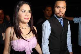 Manny Pacquiao with his wife Jinkee