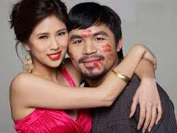 Manny Pacquiao with his ex-girlfriend Krista