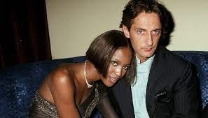 Naomi Campbell with her ex-boyfriend Luca