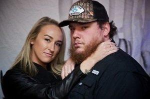 Luke Combs with his girlfriend