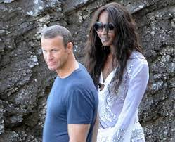 Naomi Campbell with her ex-boyfriend Marcus