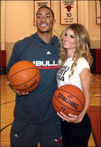 Derrick Rose with his ex-girlfriend Marisa