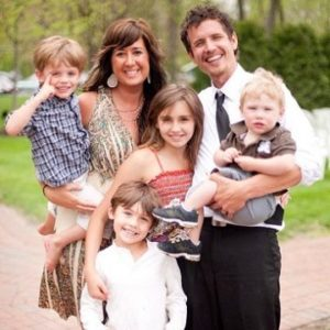 Michael Ketterer with his wife & children
