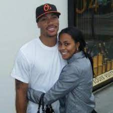 Derrick Rose with his ex-girlfriend Mieka