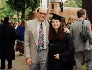 Monica Lewinsky with her father