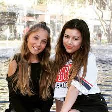 Sophia Grace Brownlee with her sister Rosie