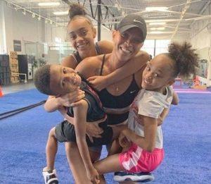 Sabrina Parr with her children