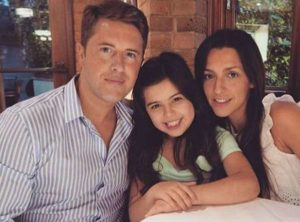Sophia Grace Brownlee with her parents