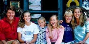 Susan Andrews with her husband & children
