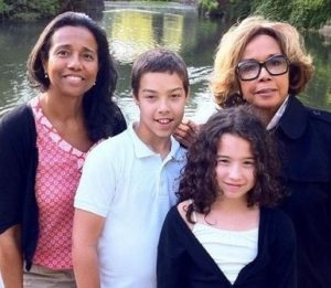 Suzanne Kay with her children