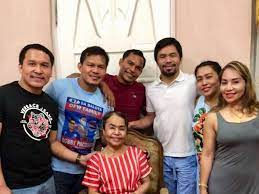 Manny Pacquiao with his family