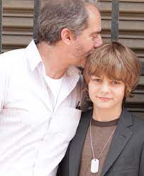 Ty Simpkins with his father