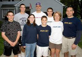 Joe Flacco with his family