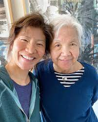 Julie Chen with her mother
