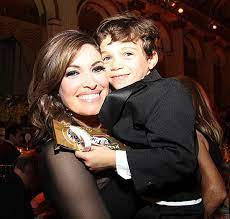 Kimberly Guilfoyle with her son