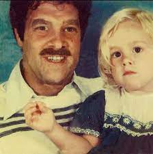 Heather Storm with her father