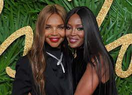 Naomi Campbell with her mother