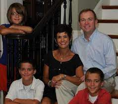 Mick Mulvaney with his wife & children