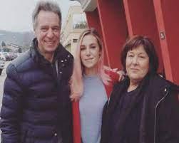 Marzia Bisognin with her parents