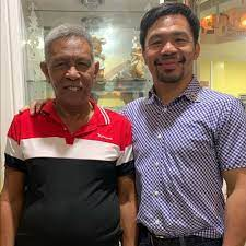 Manny Pacquiao with his father