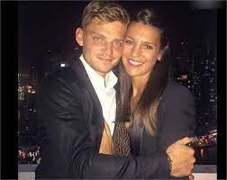 David Goffin with his girlfriend