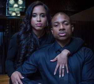 Isaiah Thomas with his wife