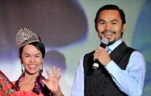Manny Pacquiao with his mother