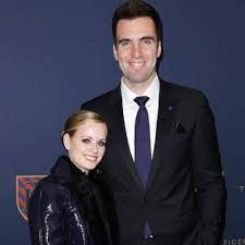 Joe Flacco with his wife