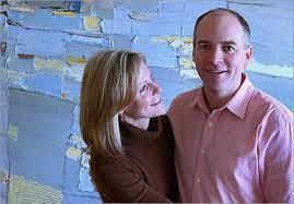 Lisa Hughes with her husband