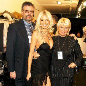 Heidi Klum with her parents