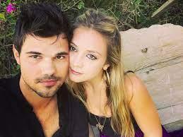 Taylor Lautner with his ex-girlfriend Billie